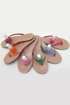 tkees sandals and essie collaboration