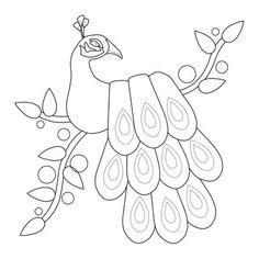 Peacock Applique quilt block by Tami Levin