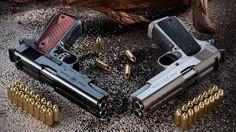 Double barrel pistols