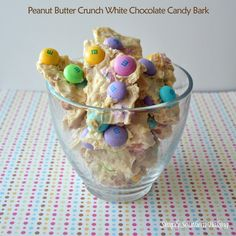 Peanut Butter Crunch White Chocolate Candy Bark