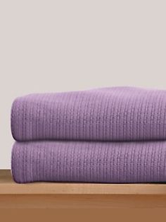 : Mauve cotton blankets - snuggle weather will be here soon!