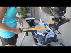 how to use a sliding miter saw