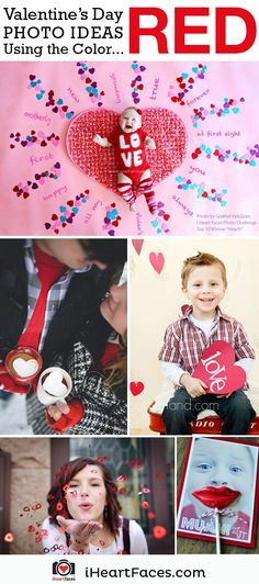 Sweet Valentine's Day Family Photo Ideas with the Color Red!