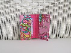 Pink Sorbet Business, Gift or Credit Card Holder / Pink Card Holder / Womens Card Holder