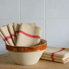 Heavy Antique Linen Towels