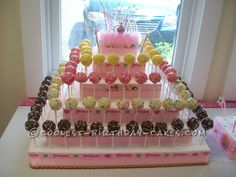 Coolest Disney Princess Cake Pops... This website is the Pinterest of birthday cake ideas