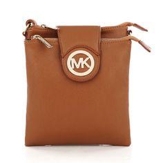 $66 Michael Kors Fulton Pebbled Large Brown Crossbody Bags on sale.