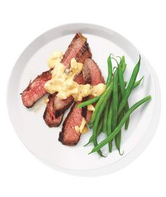 Steak With Mustard-Shallot Sauce Recipe from realsimple.com #MyPlate #protein