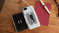Folio | Quirky Products   Cool phone wallet and ear bud holder!