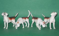 Beswick Set of Foxhounds 2nd Version