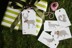 christmas presents, gift wrapping, woodland animals, woodland christmas, holiday gifts, gift guid, printabl, christmas gift tags, christmas gifts