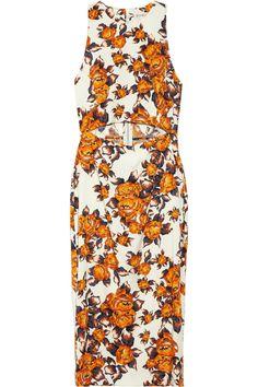 Suno|Floral-print stretch-silk dress|NET-A-PORTER.COM
