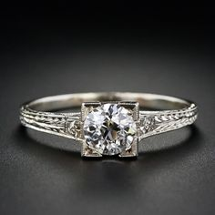 Art Deco Diamond Engagement Ring {I've been obsessed with this ring for a couple of years now. It's perfect}