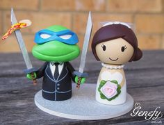 wedding cake toppers, mutant ninja, nerd wedding cake, cute wedding cakes toppers, ninja turtle cake topper, ninja wedding, leonardo ninja turtles cake, genefi playground, ninja turtle wedding