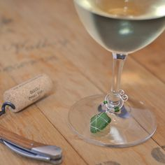 DIY Wine Charms – Wire Wrapped Sea Glass