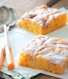 Vanilla Pumpkin Sheet Cake