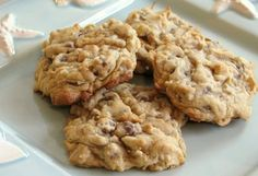 Coconut, Chocolate Chip, and Almond Cookies