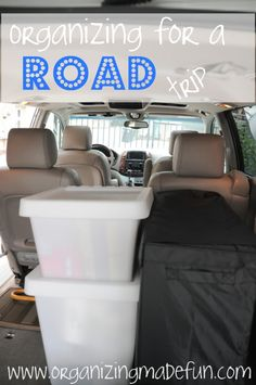 Great ideas for organizing your car for trips! I'm going to use some of these ideas this summer!