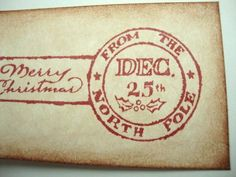 Rustic Christmas Tags North Pole Postmark by papergirlstudios