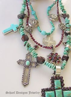 Sterling, Turquoise and Amber = Love  Schaef Designs, of course! ;D