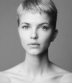 Ultra short Pixie cut. Gonna have to rock one of these after shaving my head!