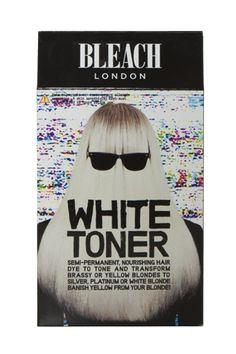 Bleach white toner kit from Bleach London: nourishing toner knocks out yellow tones from blonde hair.