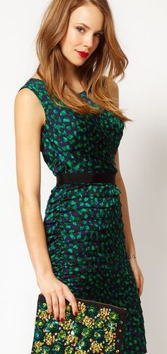 speckled emerald dress. love! #coloroftheyear #pantone #emerald #green #2013