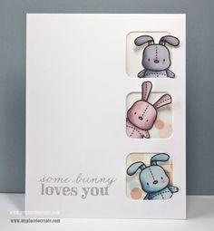 Honey Bunny Mama Elephant stamp, babi card, mama elephant baby cards