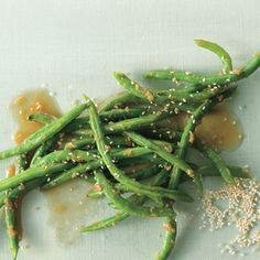 Ginger Garlic Green Beans by epicurious #Green_Beans #Ginger #Garlic #epicurious