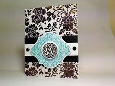 Close to my heart card. Ctmh monogram For Always