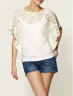 Love lace with jeans!