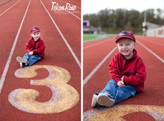 Picture on a track for birthday