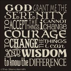 - SERENITY PRAYER- Love the font and way this is written out