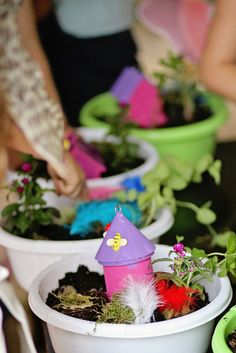 Fairy party. Create your own fairy garden activity.
