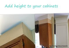 Add height to your cabinets