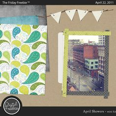 April Showers - Digital Scrapbooking Freebie