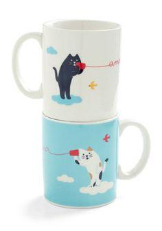 Mew and Me Mug Set, #ModCloth
