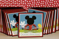 Mickey Clubhouse Invitaciones www.coqueteriasmanuales.com