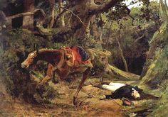 -Muerte de Antonio José de Sucre en Barruecos, año 1895, pintura hecha en óleo sobre tela. Pintado por Arturo Michelena. #Arte #Venezolano