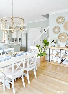 Coastal Kitchen Dining Area Summer Updates