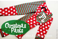 DIY Christmas (monkey) Pants Tutorial by MeSewCrazy for WeAllSew #diy #sew #weallsew.com