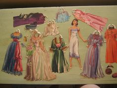VINTAGE 1940'S BRIDE PAPER DOLL WITH CLOTHES ACCESSORIES WEDDING | eBay