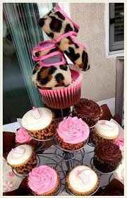 Leopard baby shower cupcakes