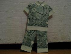 Origami Pajamas from one dollar bill