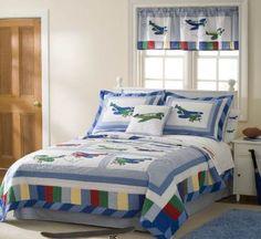 Fly Away Bedding Set - Boys Airplane Bedding