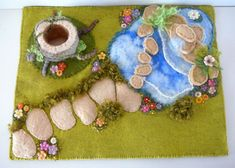 Felted scenes to feast your eyes upon, lots of lovely playscapes for inspiration