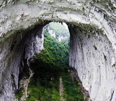 extrem climb, arches, amaz, natur, getu valley, beauti, visit, place, china