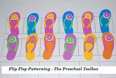 Flip Flop Patterning #education #preschool #kindergarten #kids