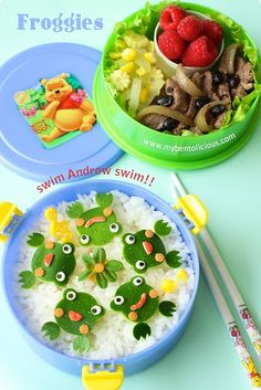 BENTO - frogs are adorable!