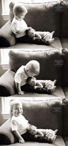 Newborn  Sibling photo idea